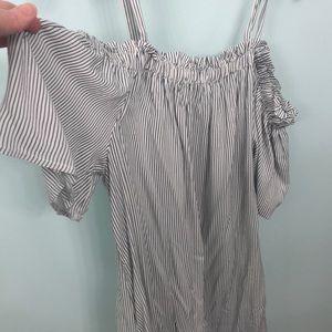 Cute striped off shoulder dress sz xxl